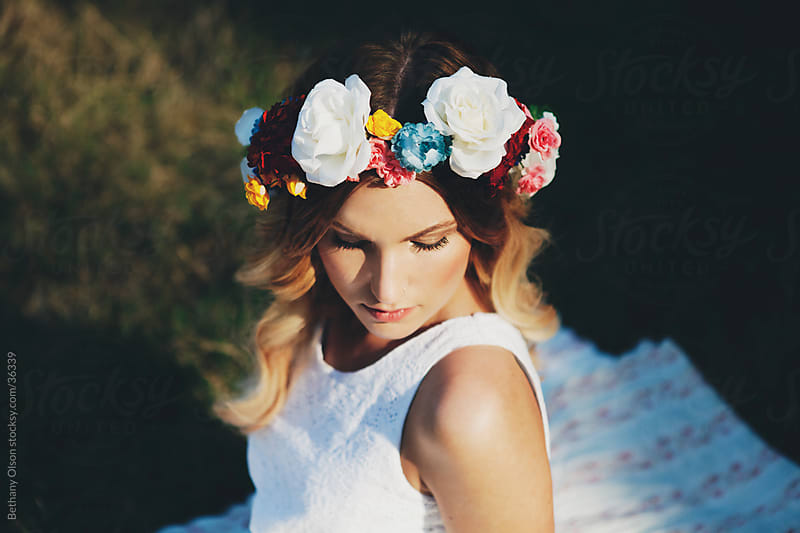 Flower Crown by Bethany Olson for Stocksy United