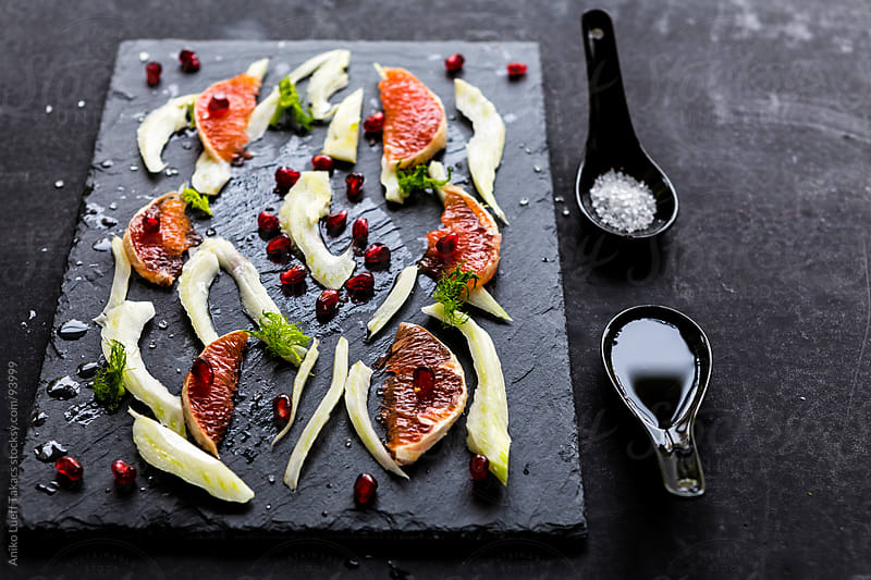 Fennel, grapefruit and pomegranate salad by Aniko Lueff Takacs for Stocksy United