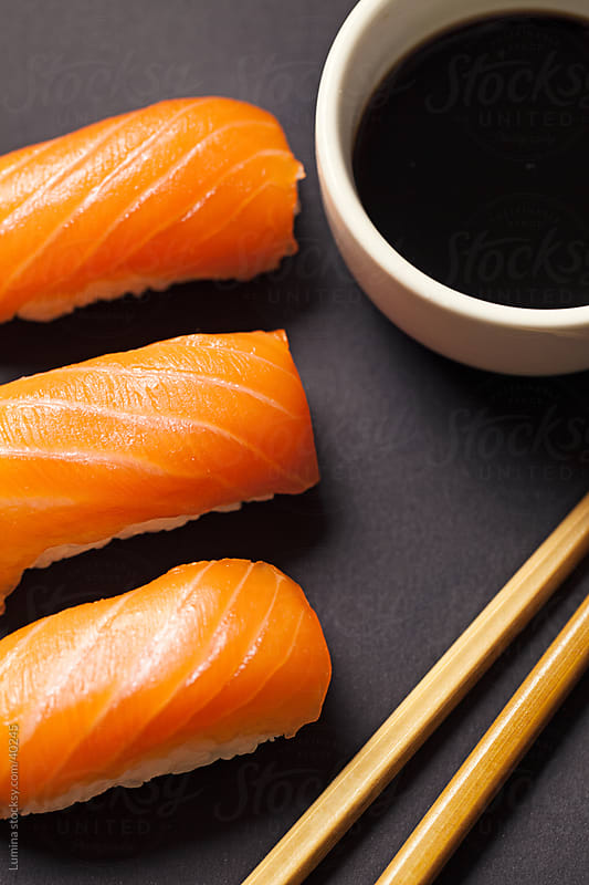 Salmon Sushi by Lumina for Stocksy United