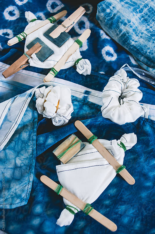 SHIBORI NATURAL INDIGO DYE by Chalit Saphaphak for Stocksy United