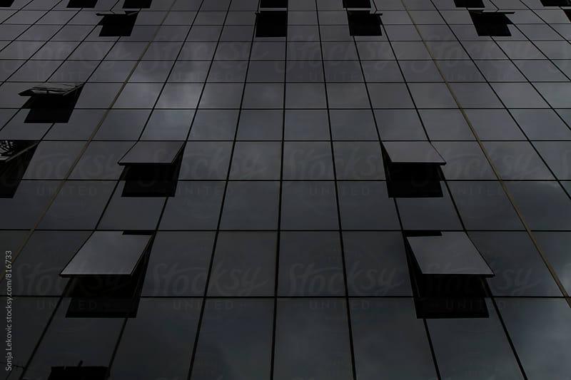 black glass windows background by Sonja Lekovic for Stocksy United