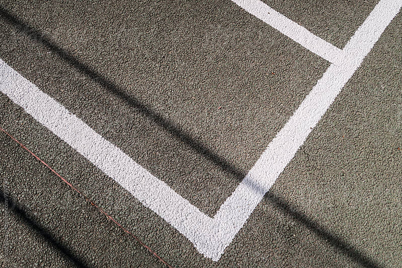 Lines on a basket court by Bisual Studio for Stocksy United