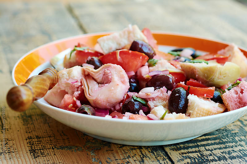Panzanella Bread Salad by Harald Walker for Stocksy United