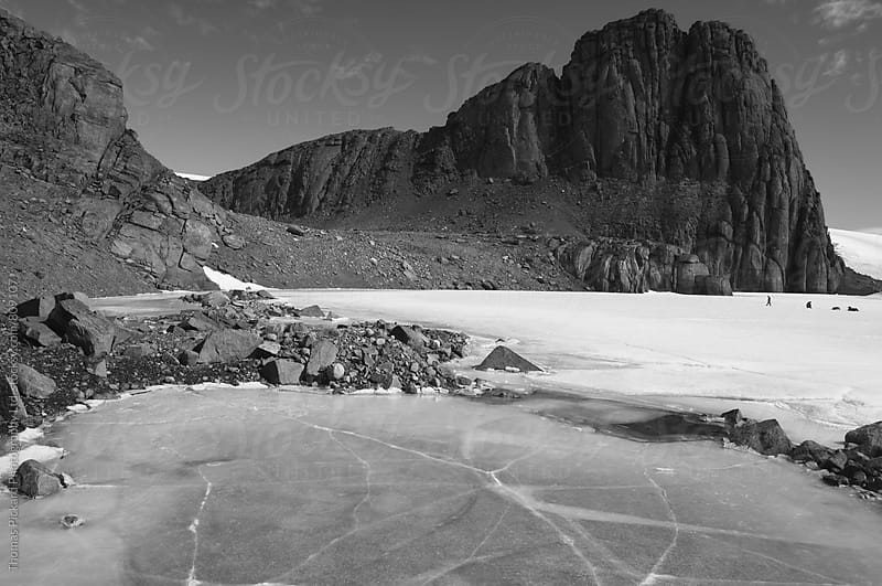 Scientists on a frozen lake, Framnes Mountains, Antarctica. by Thomas Pickard Photography Ltd. for Stocksy United
