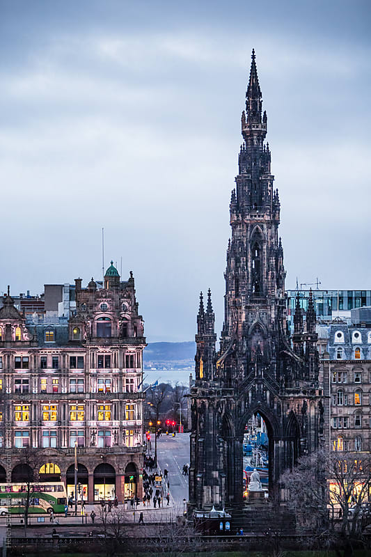 A View of Princes Street towards the Sea in Edinburgh by Helen Sotiriadis for Stocksy United
