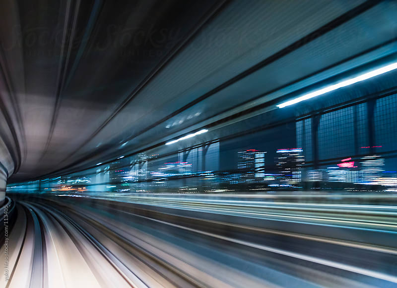 Cityscape in motion blur  from speedy driving by yuko hirao for Stocksy United