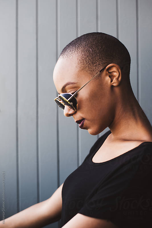 Beautiful African American Young Woman With Short Hair by Nemanja Glumac for Stocksy United