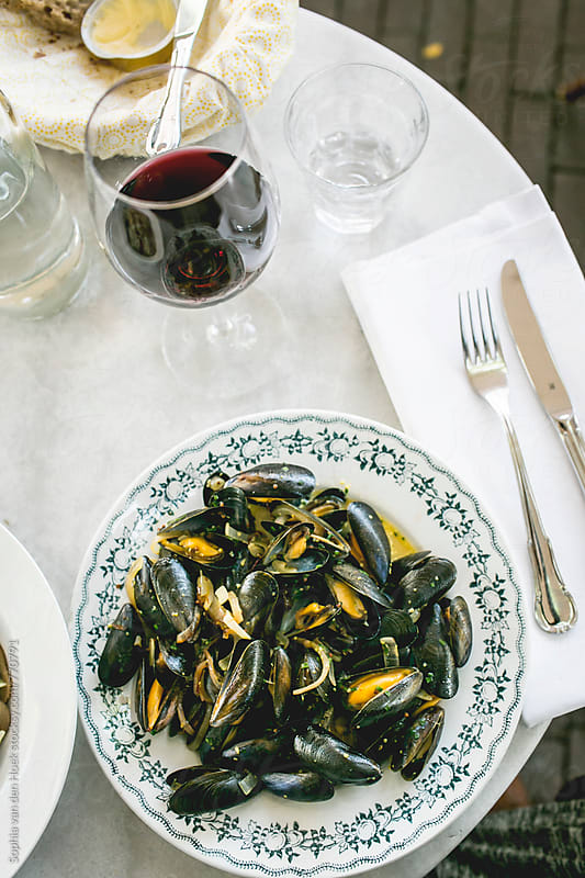 Bouchot mussels by Sophia van den Hoek for Stocksy United