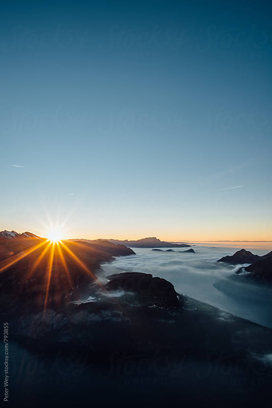 Sunset from Fronalpstock by Peter Wey for Stocksy United