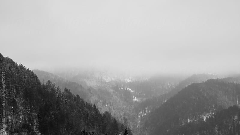 Black and White Mountain Landscape by Branislav Jovanović for Stocksy United