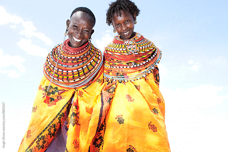 Smiling Samburu tribeswomen. Kenya. by Hugh Sitton for Stocksy United