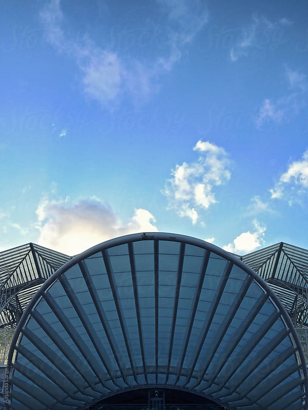 Santiago Calatrava Oriente Station in Lisbon, Portugal by Amanda Large for Stocksy United