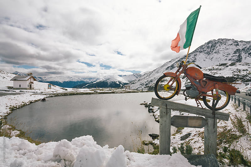 Alpine Lake by Davide Illini for Stocksy United