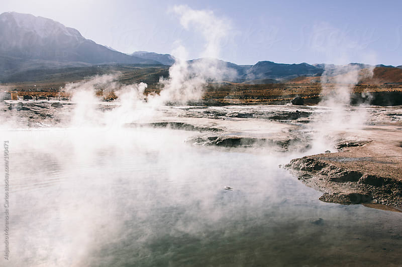 Natural Hot Spring and geysers landscape by Alejandro Moreno de Carlos for Stocksy United