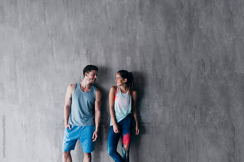 Couple in Sportswear by Lumina for Stocksy United