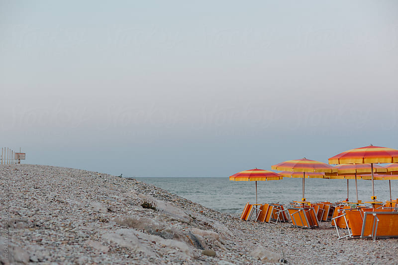 Equipped beach at end of day by michela ravasio for Stocksy United