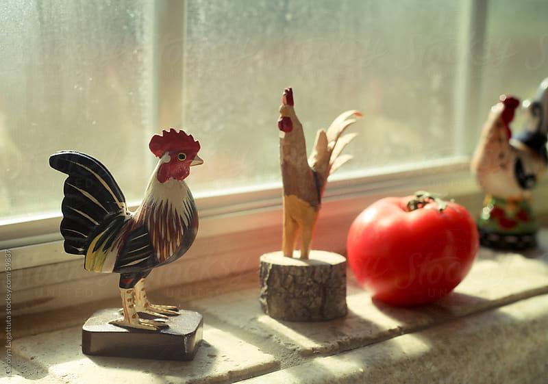 Window sill in a country home by Carolyn Lagattuta for Stocksy United