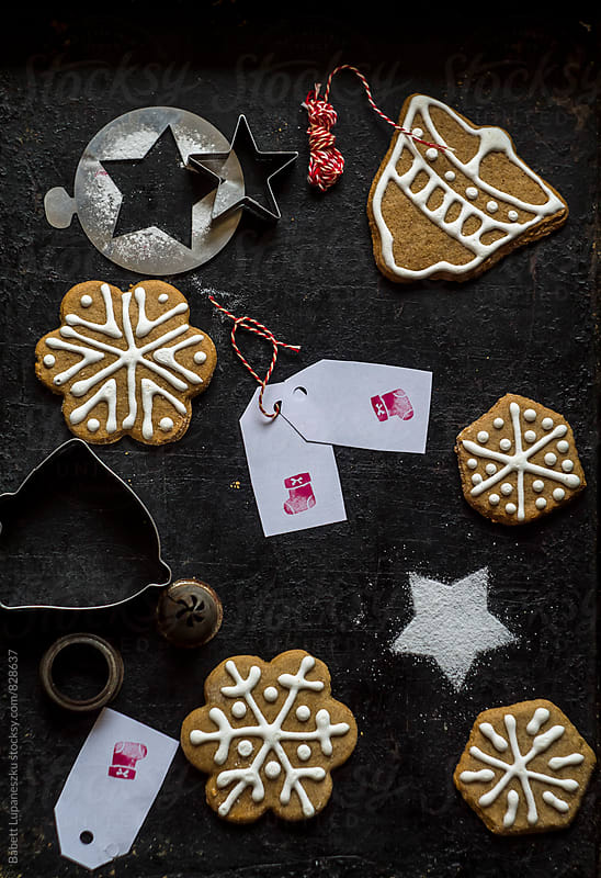 Preparing Gingerbread cookies by Viktorné Lupaneszku for Stocksy United