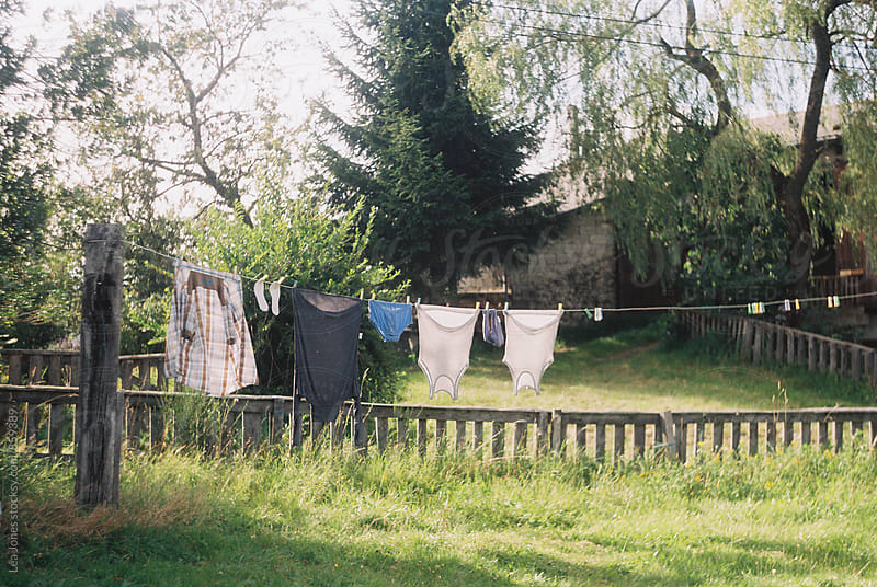 Clothes line/laundry line in France by Léa Jones for Stocksy United