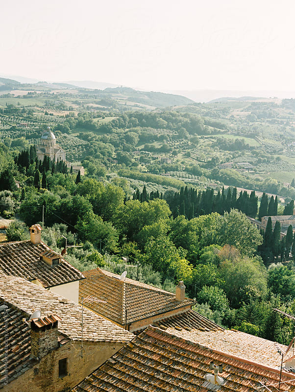 View of hills from Montepulciano, Tuscany.  by Kirstin Mckee for Stocksy United