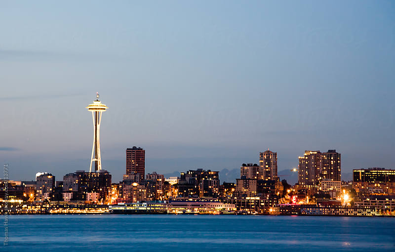 Seattle Cityscape by Thomas Hawk for Stocksy United