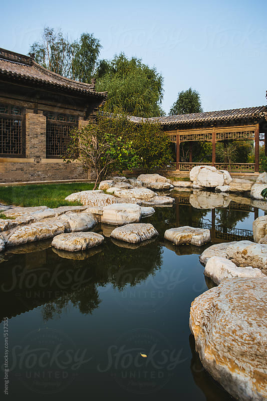 Chinese traditional architecture,Shanxi province by zheng long for Stocksy United