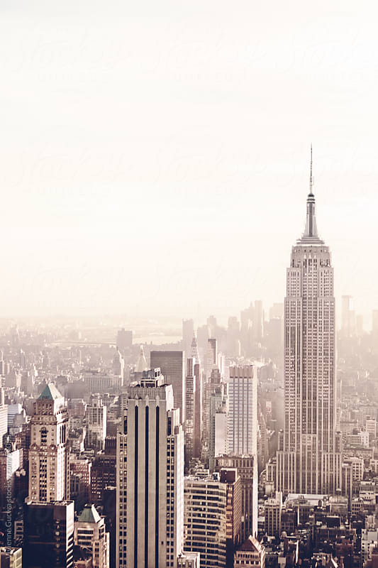 Empire State Building and New York City Skyline by Vivienne Gucwa for Stocksy United