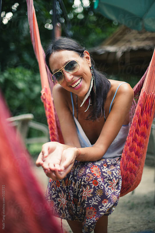 Beautiful mature woman on vacation in tropical island by Nabi Tang for Stocksy United