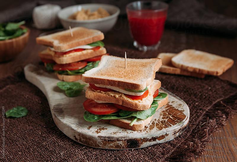 Toast sandwich by Nataša Mandić for Stocksy United