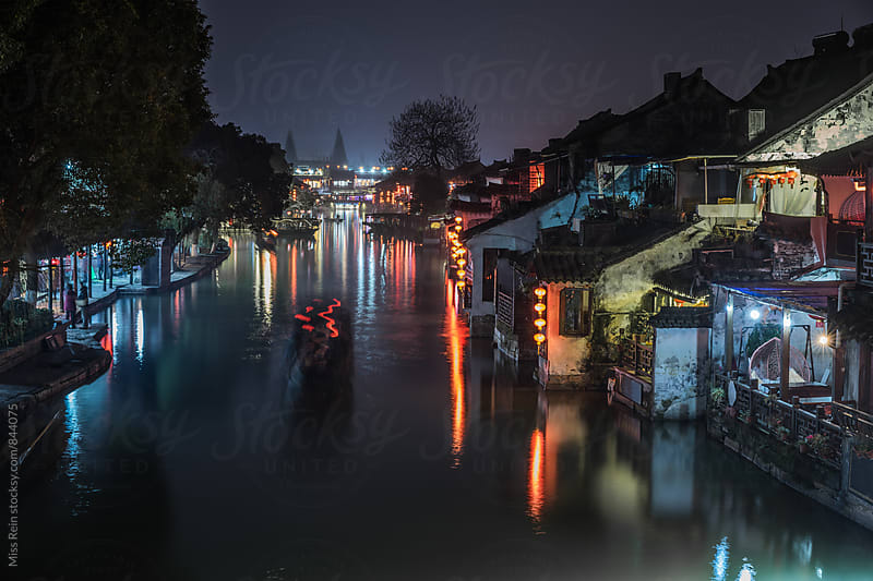 Chinese traditional water town,the world heritage,XiTang,YongJia,ZheJiang,China by Miss Rein for Stocksy United