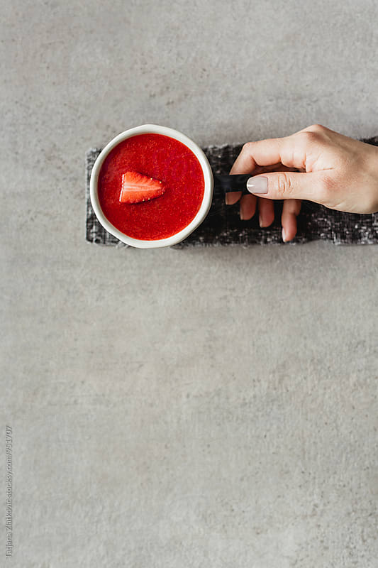 Strawberry smoothie by Tatjana Ristanic for Stocksy United