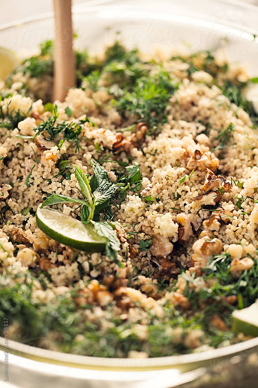 Couscous With Walnuts, Lime and Mint by Lumina for Stocksy United