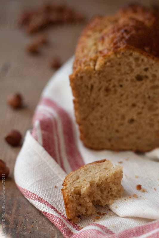Hazelnut plum cake  by Federica Di Marcello for Stocksy United