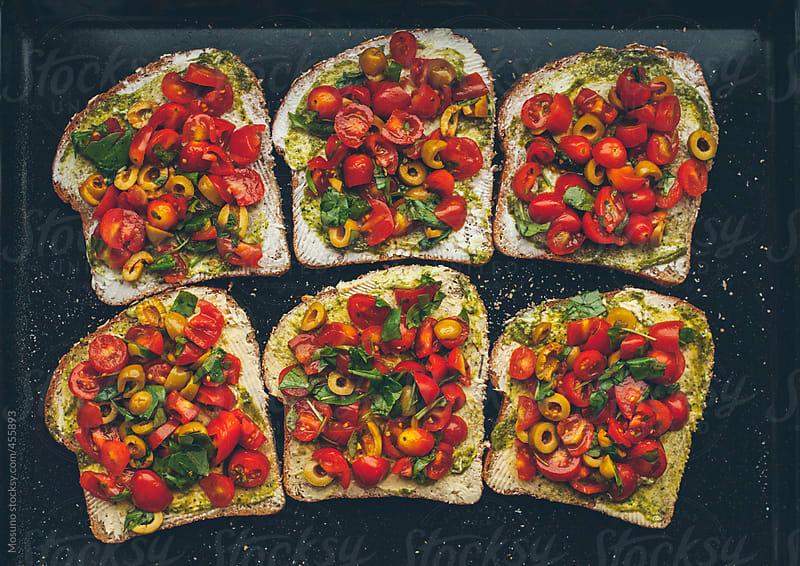 Vegetarian Bruschetta  by Mosuno for Stocksy United