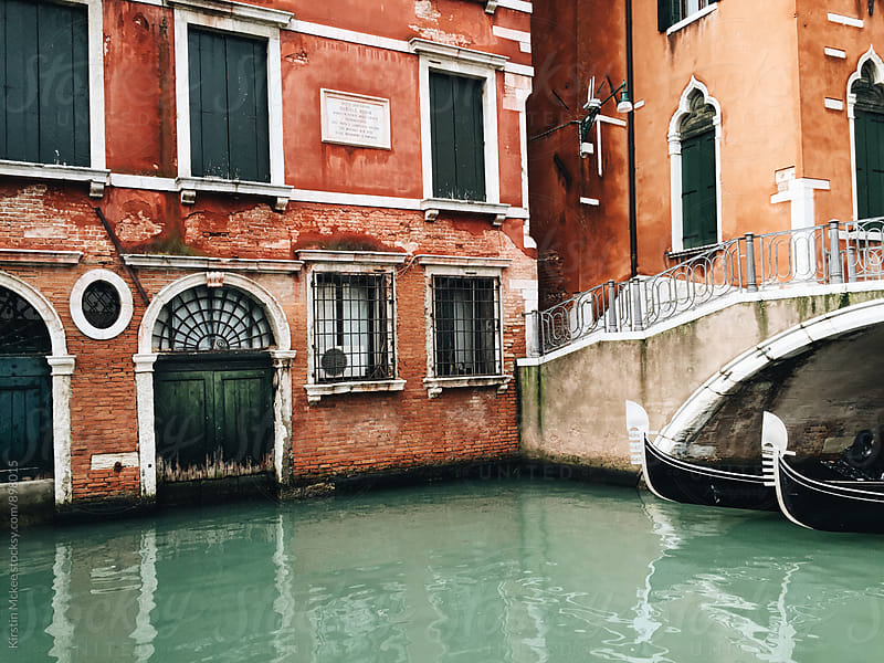 Canal  with gondolas in Venice, Italy by Kirstin Mckee for Stocksy United