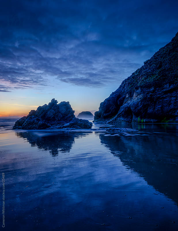 Acadia Beach Sunset, Oregon Coast by Cameron Whitman for Stocksy United