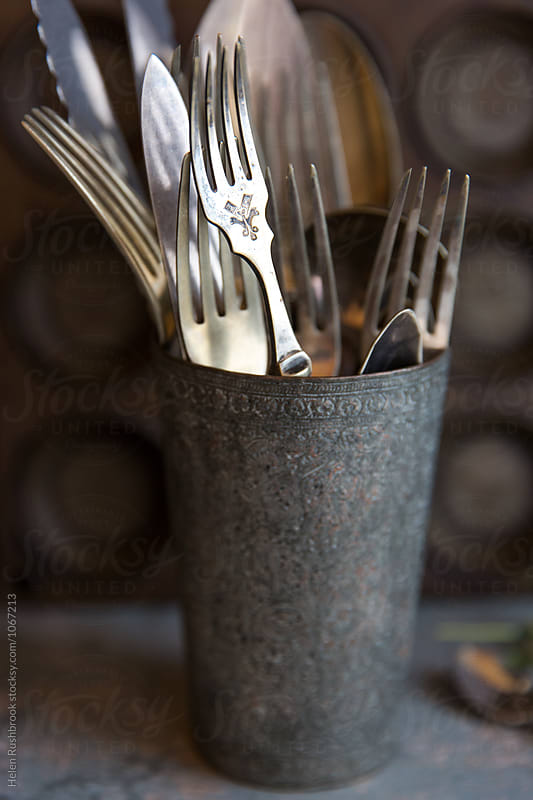 Vintage silver cutlery by Helen Rushbrook for Stocksy United