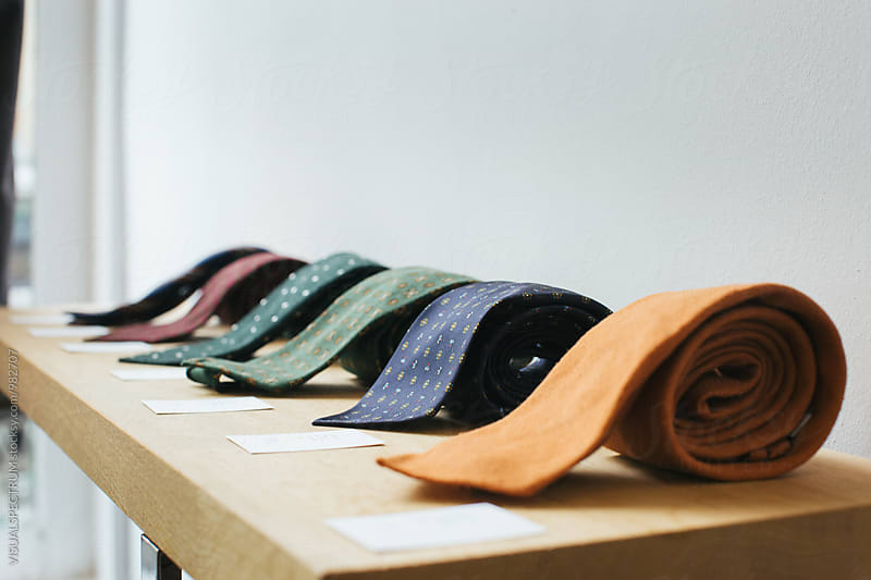 Ties on Display in High-End Fashion Boutique by Julien L. Balmer for Stocksy United