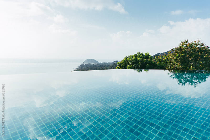 Infinity Pool with Sea View by VISUALSPECTRUM for Stocksy United