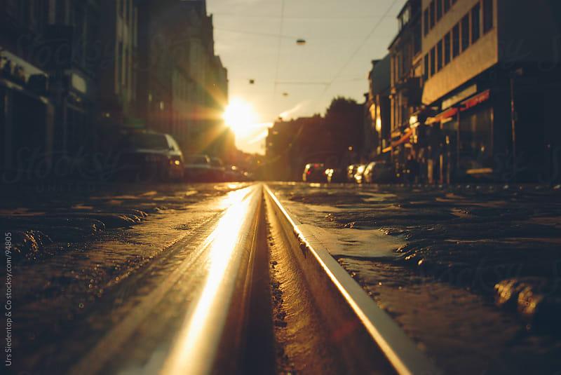 Urban sunset by Urs Siedentop & Co for Stocksy United