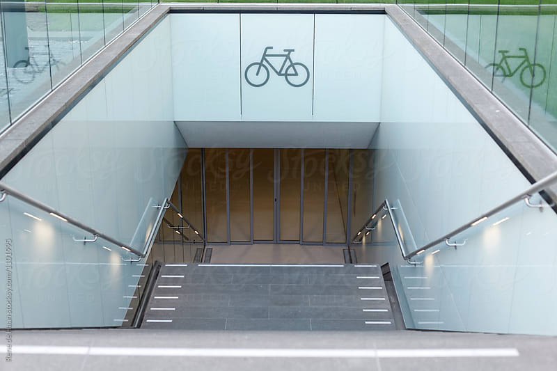 underground bicycle parking by Rene de Haan for Stocksy United