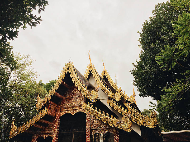 Old temple in thailand by Jesse Morrow for Stocksy United