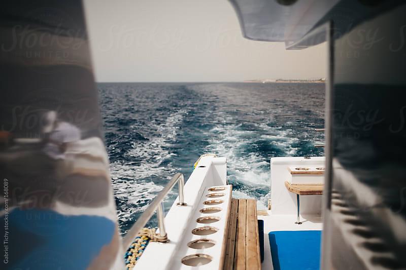 Back of a yacht by Gabriel Tichy for Stocksy United
