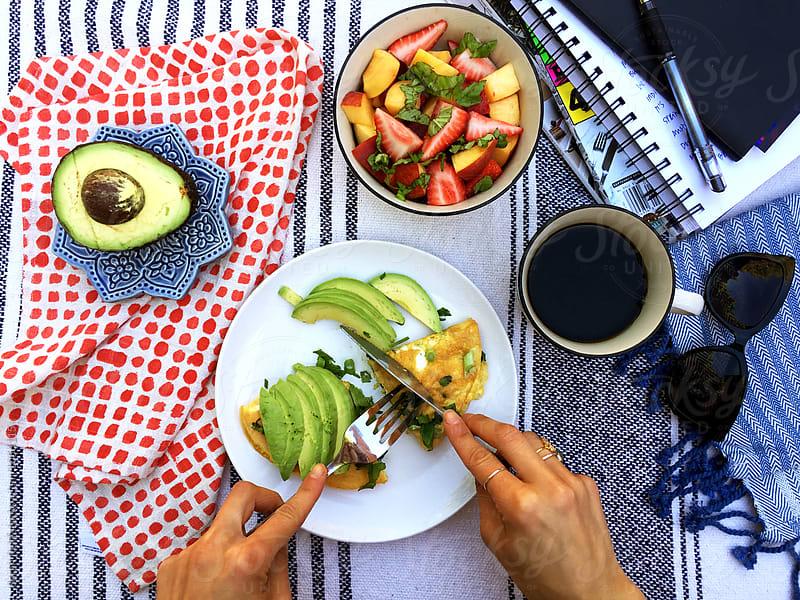 Al Fresco Breakfast by Sarah Reid for Stocksy United