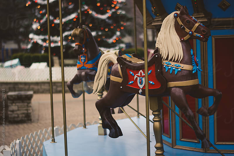 Christmas Carousel Horse by Gabriel (Gabi) Bucataru for Stocksy United