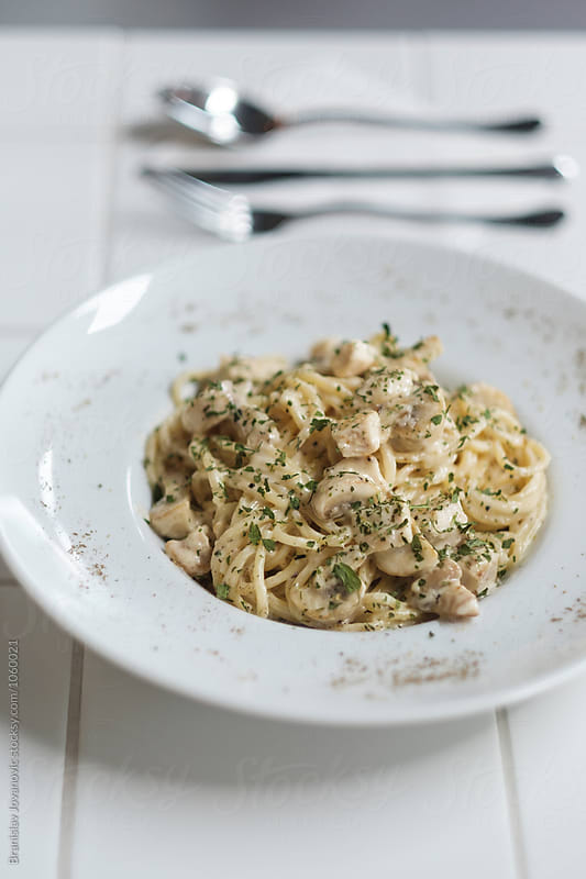 Pasta with Chicken by Branislav Jovanović for Stocksy United
