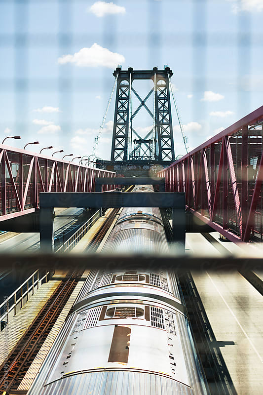 Metro on a Williamsburg bridge. by BONNINSTUDIO for Stocksy United