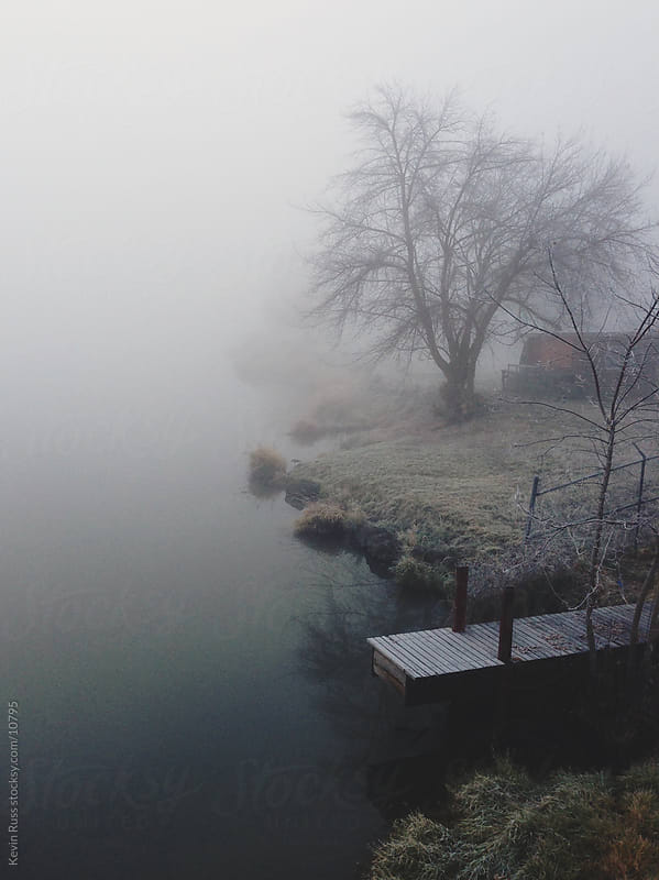 Foggy Pond Dock by Kevin Russ for Stocksy United