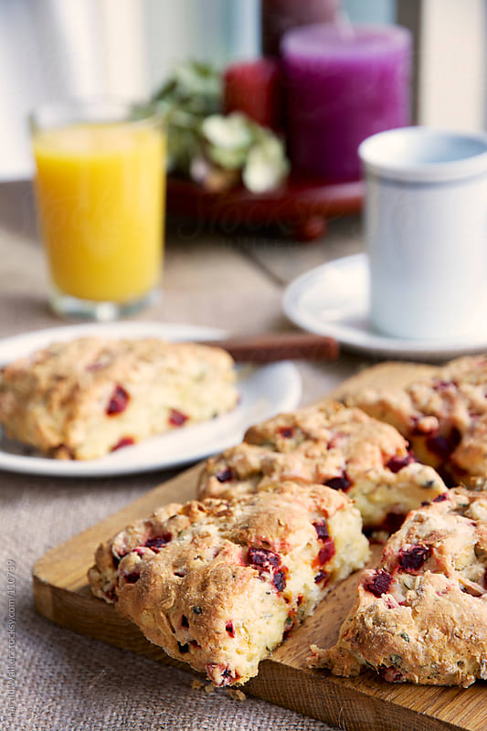 Savory Beet and Feta Scones by Harald Walker for Stocksy United