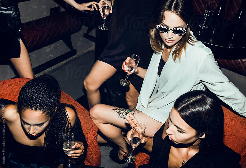 Stylish females in club on afterparty. by Marko Milanovic for Stocksy United